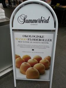 Økologisk mangoflødebolle